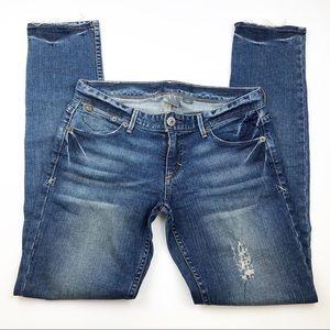 Armani Exchange Size 4P Distressed Skinny Jeans